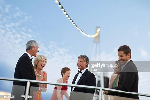 Passengers Dancing on Cruise Ship Deck