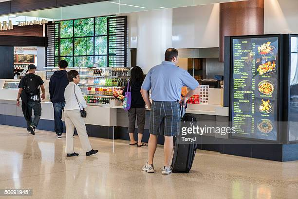 Passengers Decide What to Eat at the San Francisco Airport