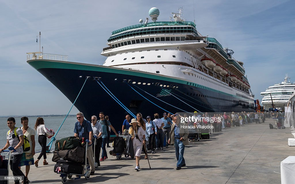 Cruise Ships Bring Thousands Of Tourists To Portugal Photos And - Lisbon cruise ship port