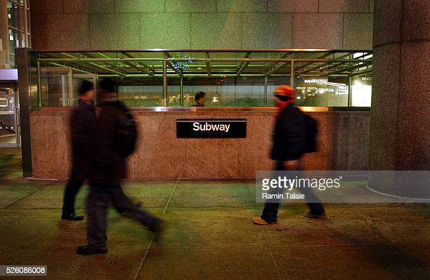 Passengers enter a subway station in New York City, as the the midnight deadline passes for an MTA strike on Thursday, December 15 2005. The New York...