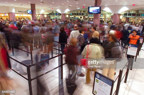 Passengers file through the security checkpoint at HartsfieldJackson International Airport in Atlanta the day before Thanksgiving the busiest travel...