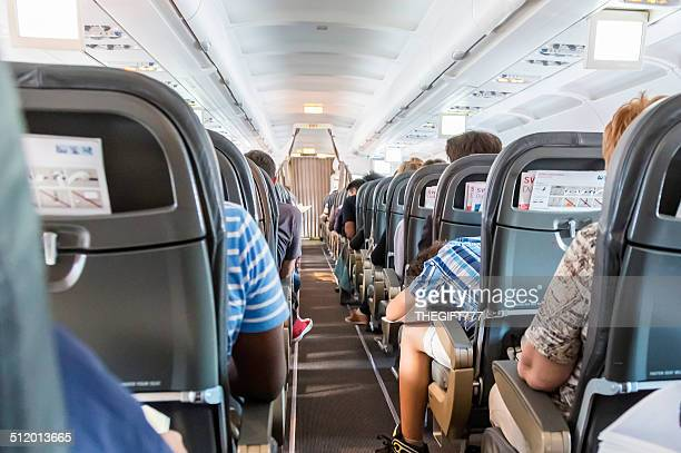 Passengers in a aeroplane