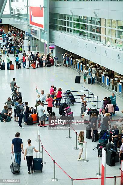Passengers in hall of airport Düsseldorf