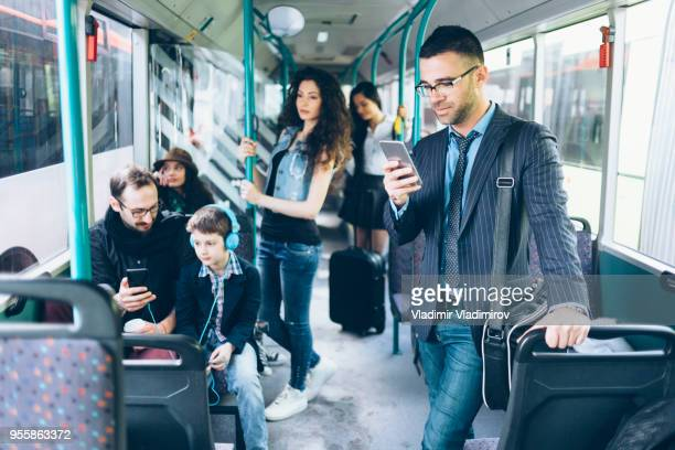 passengers inside of public transport - passenger train stock pictures, royalty-free photos & images