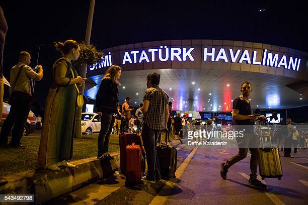 Passengers leave Istanbul Ataturk Turkey's largest airport after a suicide bomb attack in the early hours of June 29 Istanbul Turkey Three suicide...