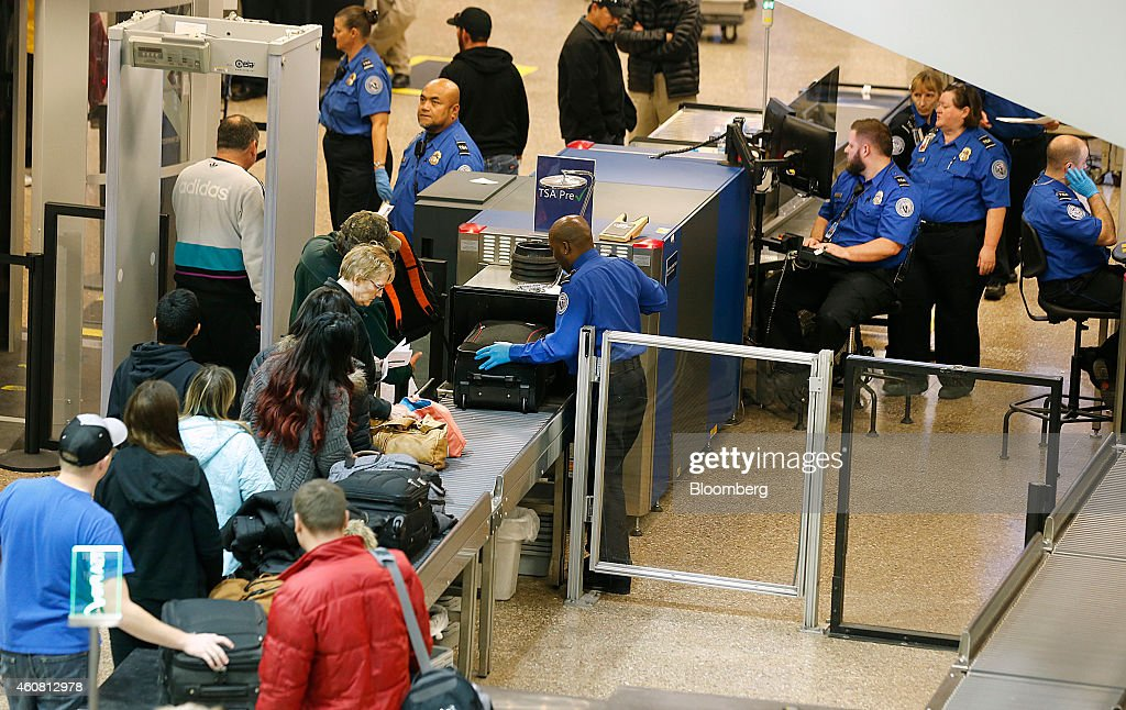 Security At The Salt Lake City International Airport During Holiday Travel : News Photo