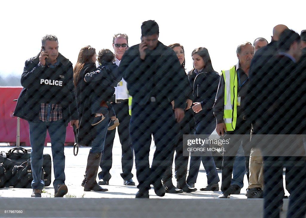 Passengers of an EgyptAir Airbus A-320 which was hijacked
