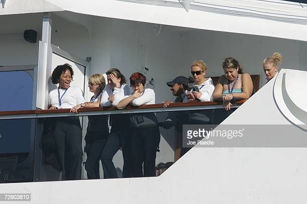 Passengers of the Carnival Liberty Cruise ship wait to disembark from the ship at Port Everglades on November 19 2006 in Fort Lauderdale Florida More...