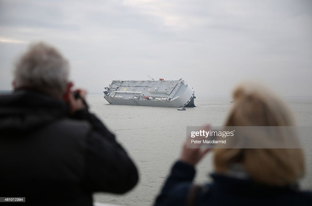 Crew Rescued As Ship Runs Aground In The Solent : News Photo