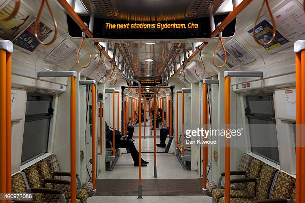 Passengers on a train leaving Forest Hill Station on January 2 2015 in London England Increased rail fares averaging 25% come into effect today...