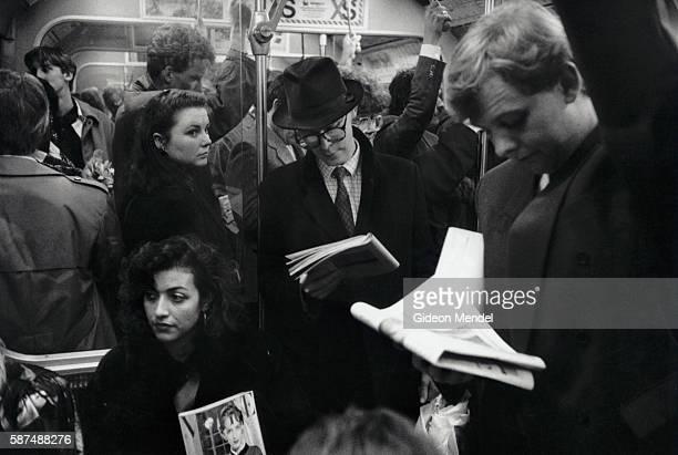 Passengers on Crowded London Subway