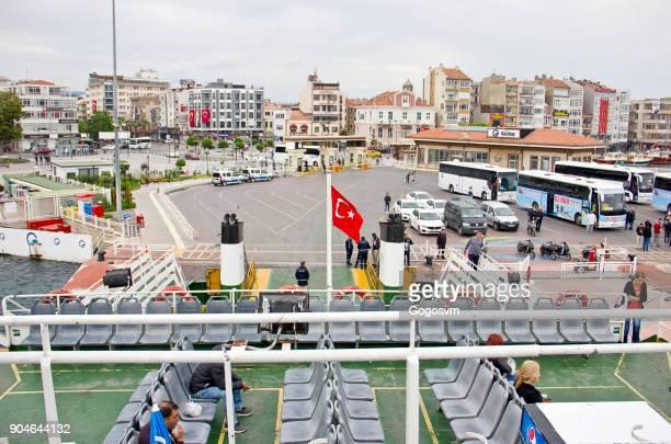 Passengers on ferry boat