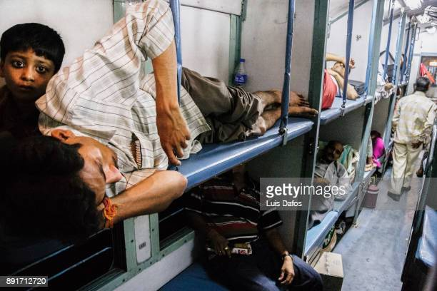 Passengers on Indian train