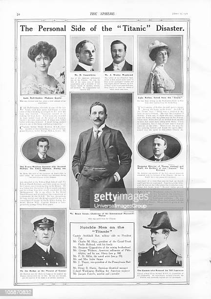 Passengers on RMS Titanic Photographs and information about notable people connected with Titanic mostly passengers some of whom survived and some...