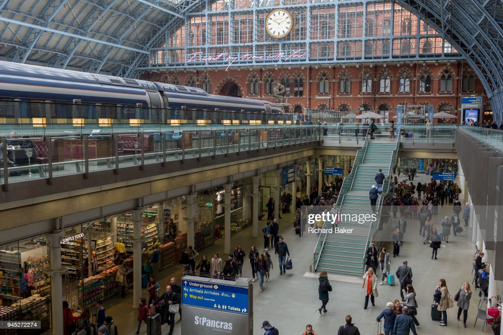 St Pancras Station Interior : News Photo