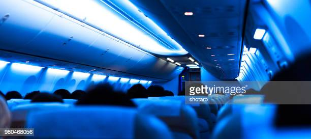 Passengers sitting in boeing 737-800 airplane, Japan