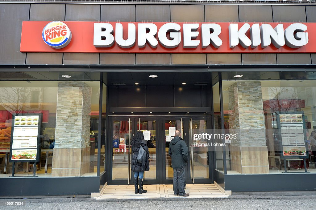 Pengers Stand For Temporary Closed Burger King Restaurant On November 24 2017 In Frankfurt