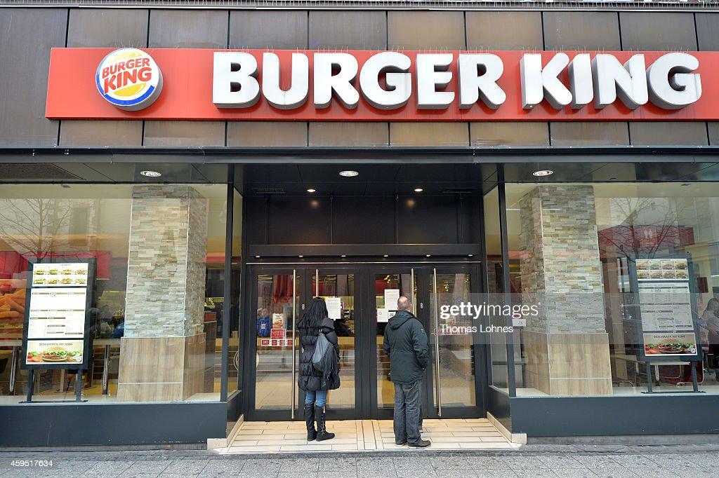 Pengers Stand For Temporary Closed Burger King Restaurant On November 24 2017 In Frankfurt