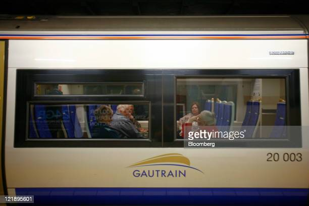 Passengers wait for departure aboard a Gautrain rail carriage in Johannesburg South Africa on Monday Aug 22 2011 South Africa expanded its rapidrail...