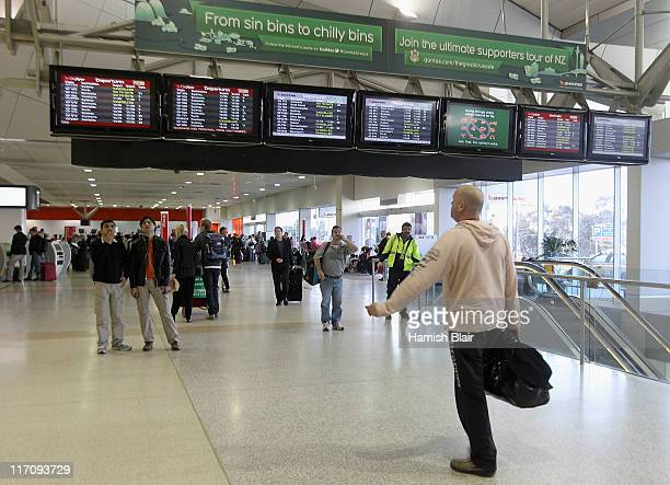 Passengers wait for flights at Melbourne International Airport on June 22 2011 in Sydney Australia Flights across Australia's busiest airports are...