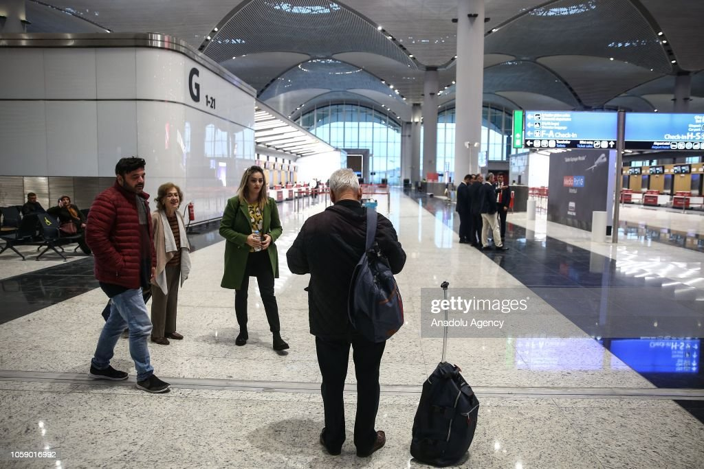 First flight to Baku takes off from Istanbul Airport : News Photo
