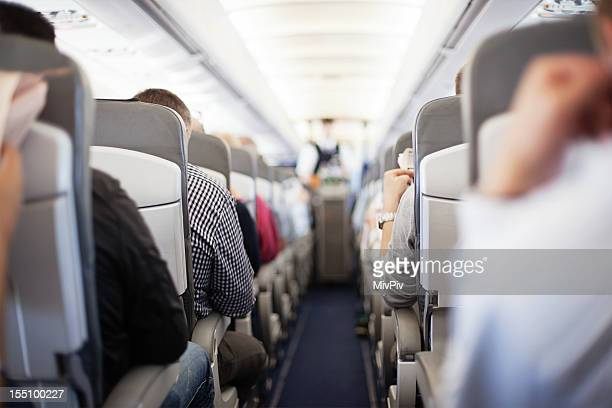 Passengers waiting for in-flight service