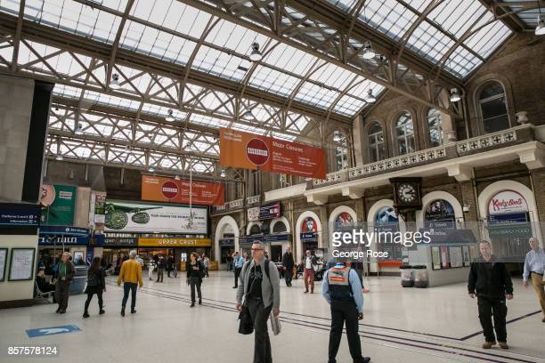 Passengers walk through Charing Cross Station on September 13 in London England Great Britain's move toward 'Brexit' or the departure from the...