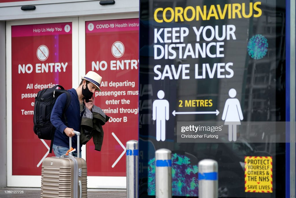 UK Reimposes 14-Day Quarantine For Travelers From Spain : News Photo