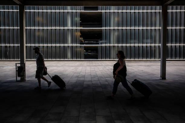 ESP: Holiday Travelers at Barcelona El Prat Airport