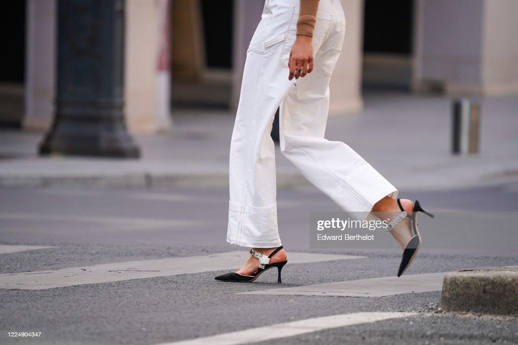 Street Style In Paris - May 2020 : Nieuwsfoto's