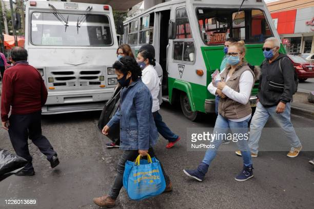 Passersby in Mexico City during new normality and mobility by COVID19 in Mexico on July 9 2020