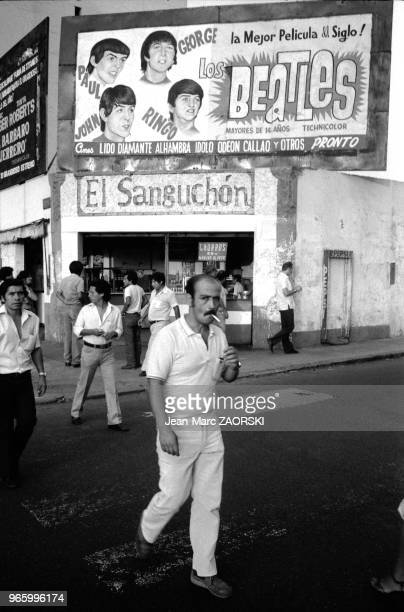 Passersby in the street in Lima in Peru on March 17 1983