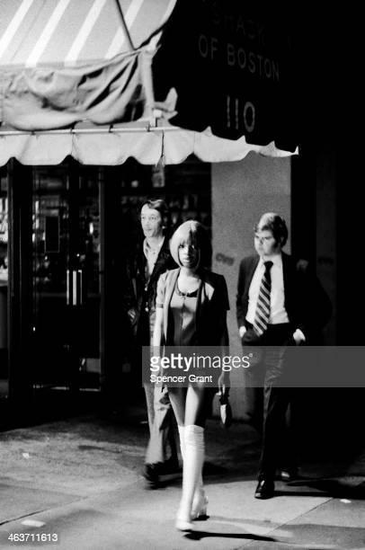 Passersby on Boylston Street near the Combat Zone, Boston, Massachusetts, 1973.