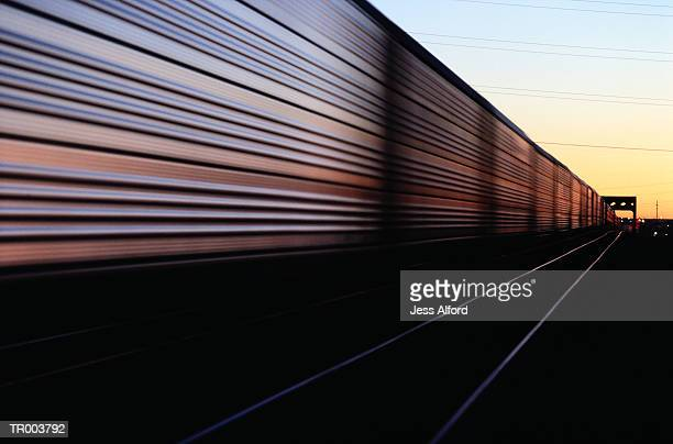passing freight train - rail freight stock pictures, royalty-free photos & images