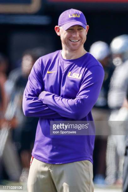 LSU passing game coordinator Joe Brady before the game between the LSU Tigers and Vanderbilt Commodores at Vanderbilt Stadium on September 21 2019 in...