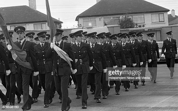 Passing Out Parade of new Firefighters for Dublin Corporation Fire Brigade at Killbarrack Fire Station Dublin