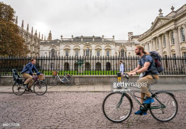 passing the old schools buildings in cambridge, england - cambridge stock pictures, royalty-free photos & images
