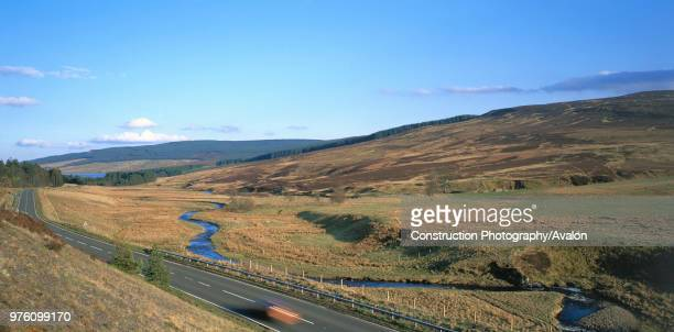 A68 passing through the Cheviot Hills Northumberland