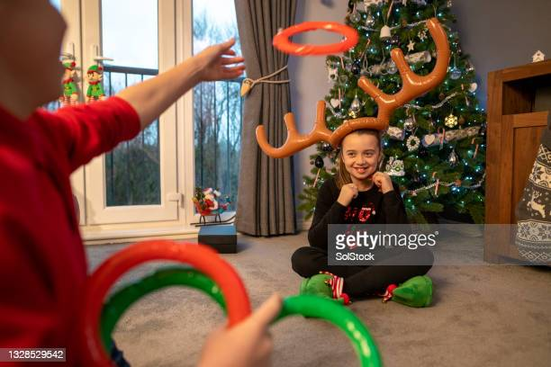 passing time before presents - antler stock pictures, royalty-free photos & images