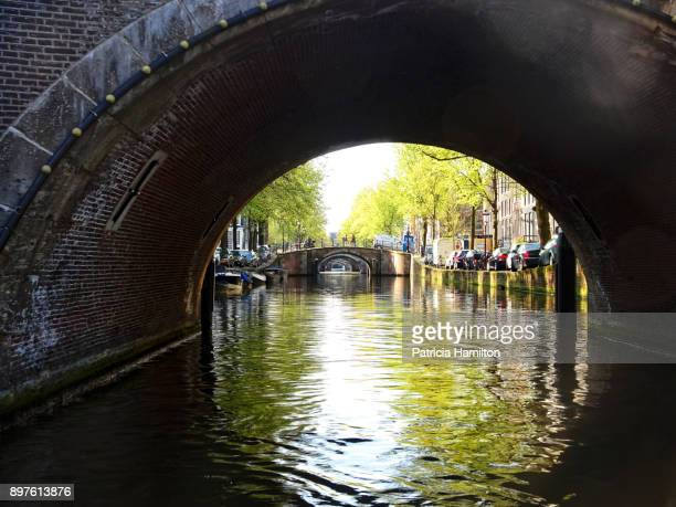 Passing under a small bridge, Amsterdam