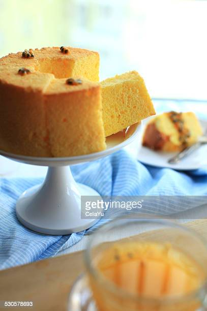 passion fruit chiffon - chiffon stock pictures, royalty-free photos & images