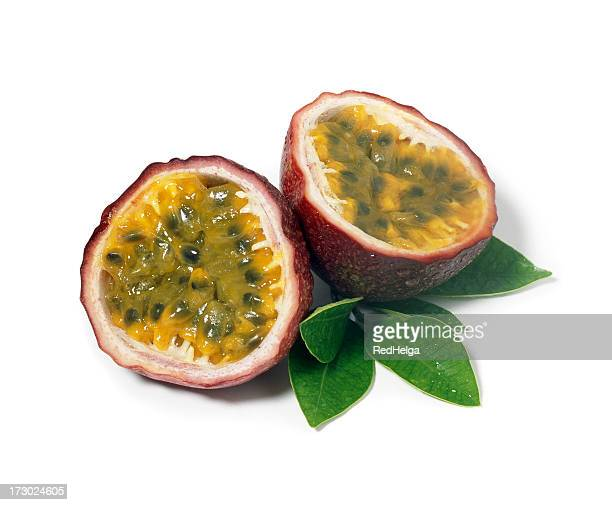 Passion Fruits with Leafs
