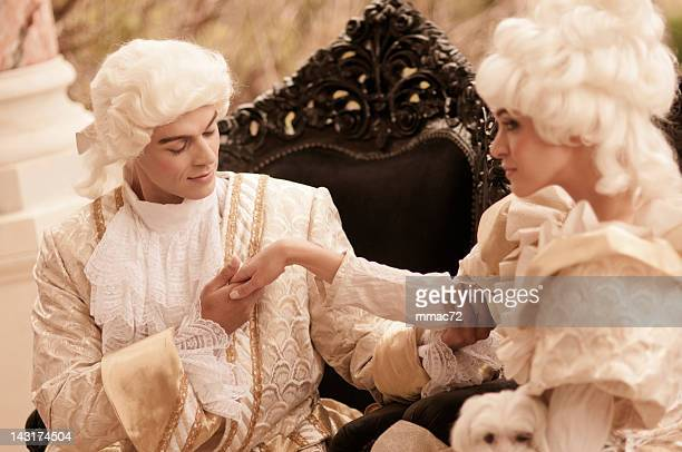 passion in  old french costumes - 18th century style stock pictures, royalty-free photos & images