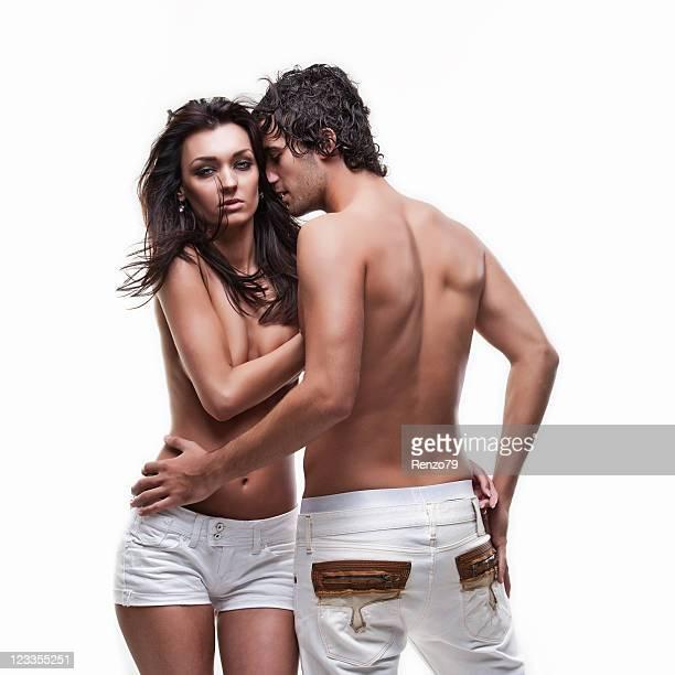 Passionate couple (semi-nude shoot)