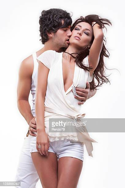 Passionate couple (white dress shoot)