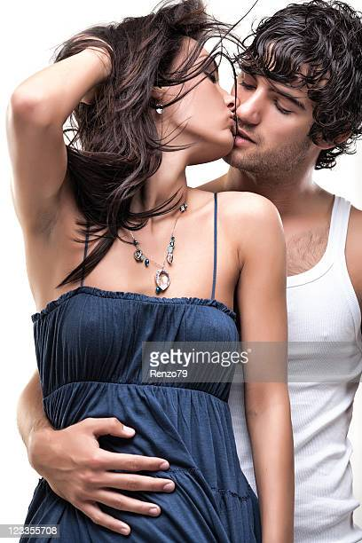 Passionate couple (blue & white shoot)