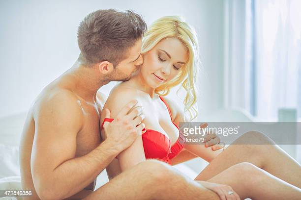 passionate couple - image stockfoto's en -beelden