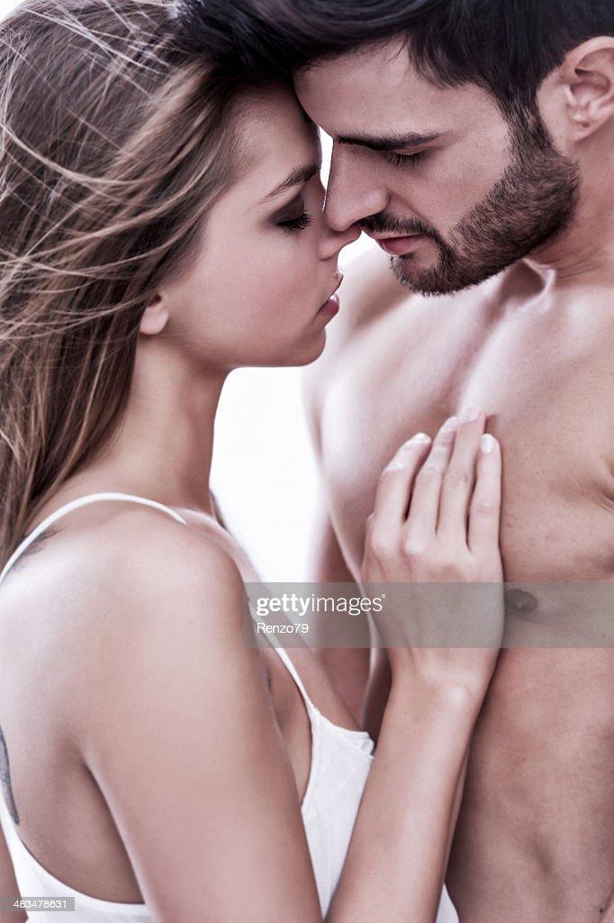 熱心なカップル : ストックフォト