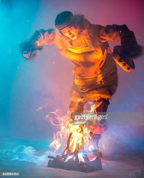 passionate dance of fire - inuit stock pictures, royalty-free photos & images