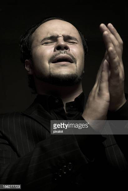 Passionate Man Clapping and Singing